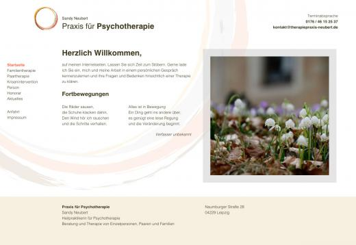 Referenzprojekt therapiepraxis-neubert.de